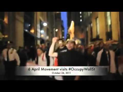 Egyptians for Wall street Demos-6th of April movement