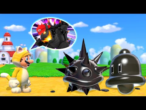What happens when Mario use the Fury Sun and Black Cat Bell Power-Up in Bowser's Fury?  