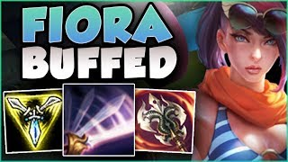 RIOT 100% BROKE EARLY GAME FIORA WITH THIS NEW BUFF! FIORA SEASON 8 TOP GAMEPLAY! League of Legends