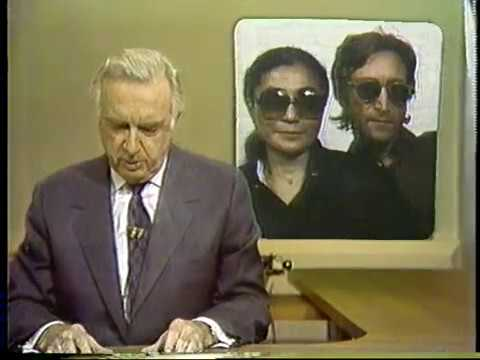 John Lennon Death 12/09/80 CBS Evening News w/ Walter Cronkite part 1