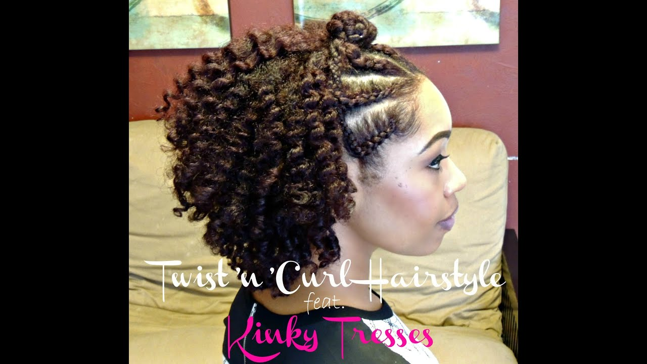 Natural Hair Twist'n'Curl Hairstyle Feat Kinky Tresses YouTube