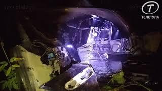 В Туле Mercedes-Benz сбил фонарный столб