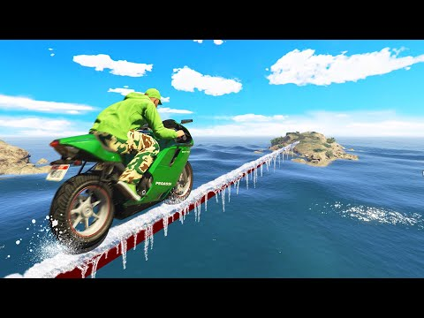 DON'T Fall Off The SLIPPERY TIGHTROPE! (GTA 5 Funny Moments) thumbnail