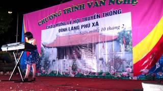 Biểu diễn lễ hội Đình làng Phú Xá lớp học Piano Organ Violin Guitar... đt 0946836968