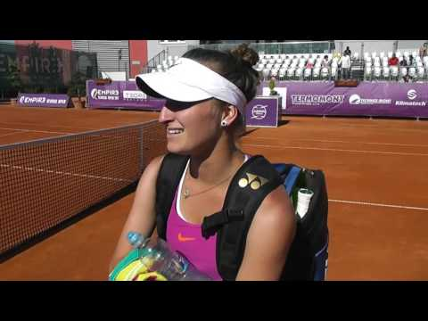 EMPIRE Slovak Open 2017: QF, interview, Marketa VONDROUSOVA (CZE) – Yanina WICKMAYER (BEL) 6-2 6-2