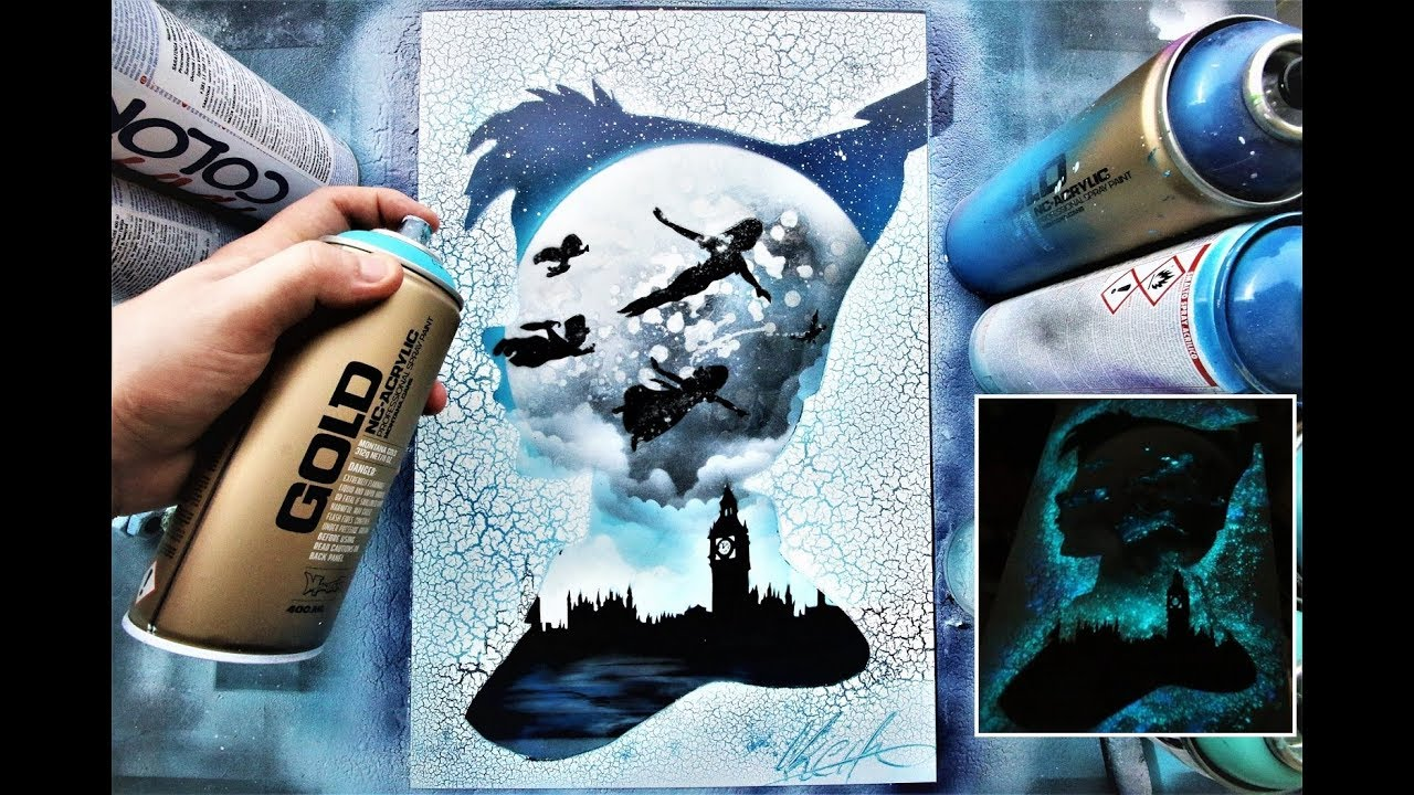 Double Exposure With Spray Paint