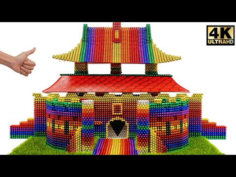 ASMR - How To Build Hwaseong (화성) Fortress From Magnetic Balls (Satisfying) | Magnet World Series