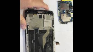 Zte zmax pro take off parts and replace screen
