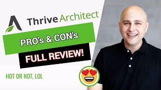Thrive Architect Review - Pros & Cons - WordPress Page Builder From Thrive Themes