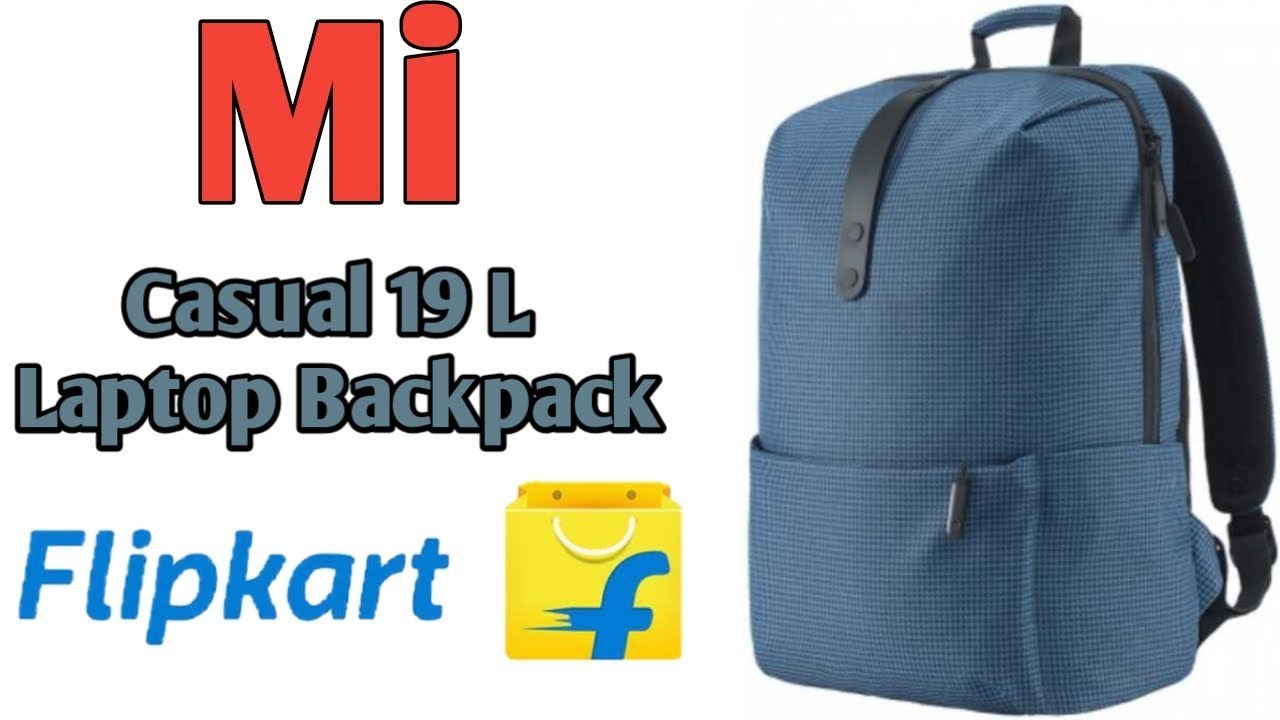 Mi Casual 19l Laptop Backpack Blue Youtube