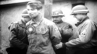 Nazi Spies and murderers executed by American soldiers in Germany. HD Stock Footage