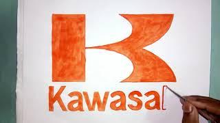 How to draw the Kawasaki logo