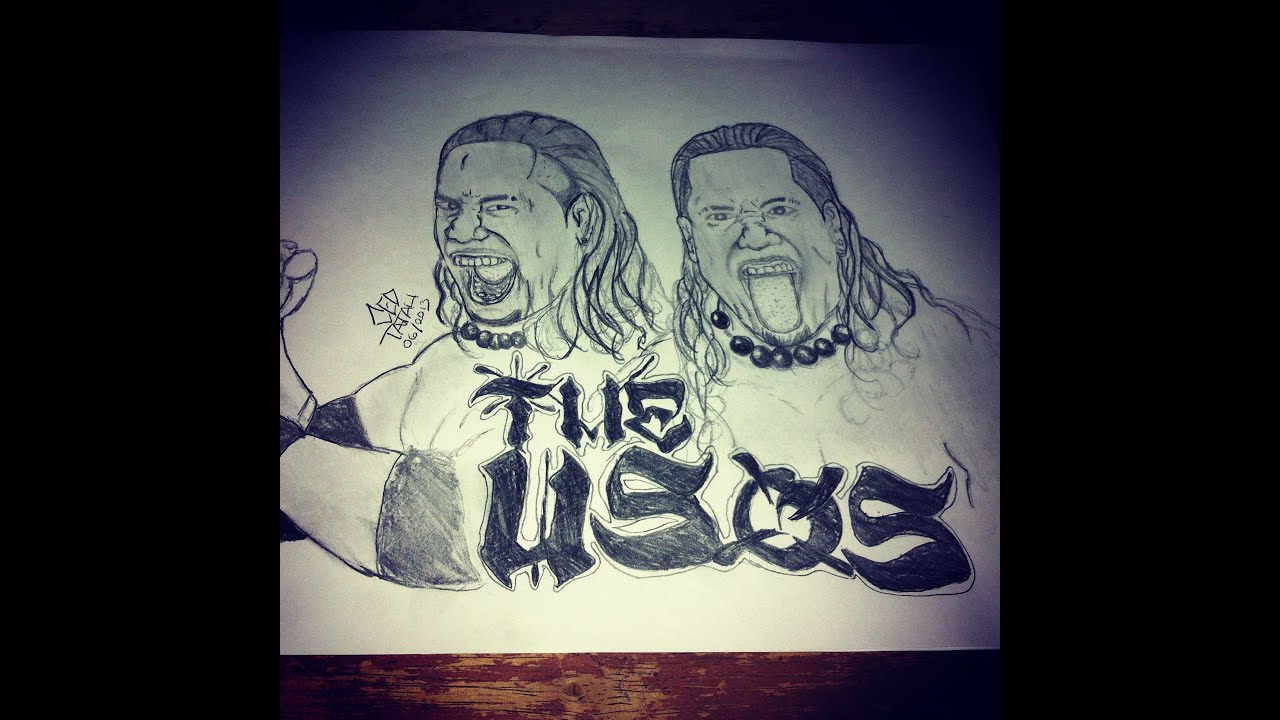 Drawing Jimmy And Jey Usos Portraits