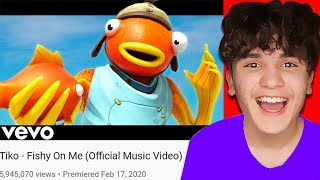 Reacting To My BEST FRIENDS VIRAL Fortnite Music Video...