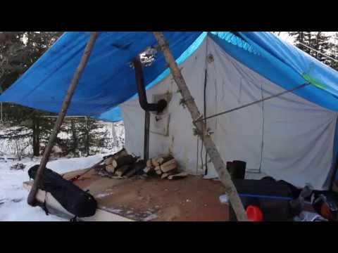 Wall tent in the Yukon: it's cold!