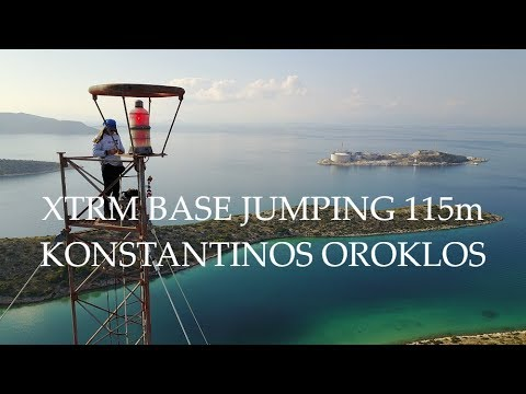 Konstantinos Oroklos Extreme Base Jumping somewhere in Greece. Up Drones