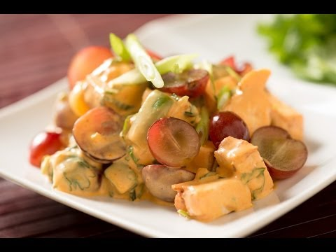 Thai Curry Chicken And Red Grape Salad