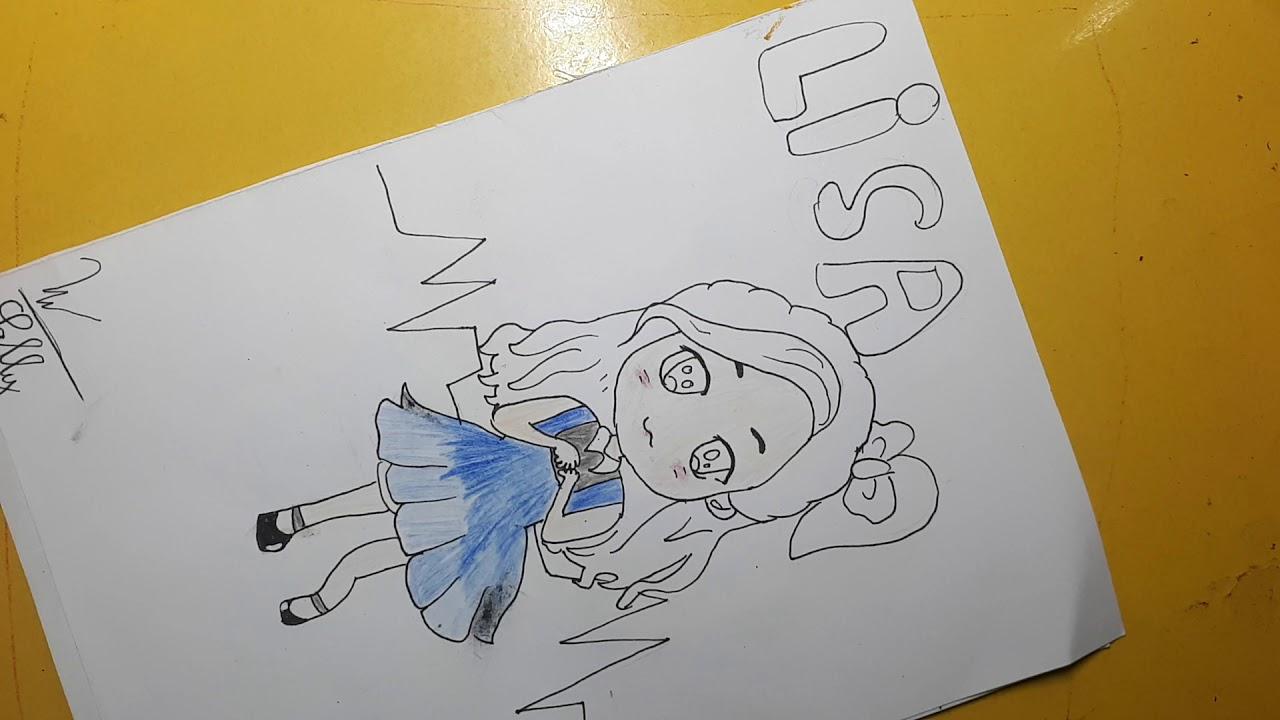 Vẽ chibi Lisa phần 2