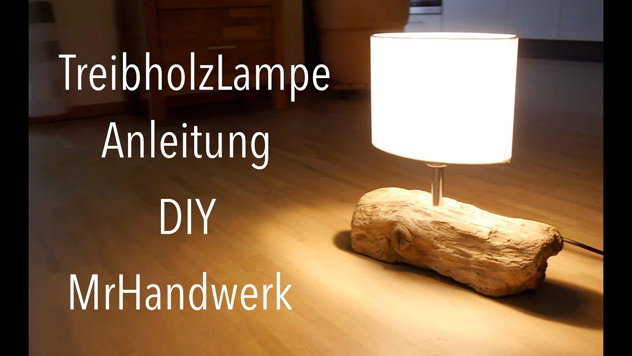 upcycling treibholz lampe anleitung deutsch diy youtube. Black Bedroom Furniture Sets. Home Design Ideas