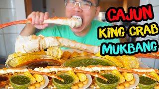 How to cook CAJUN KING CRAB *MUKBANG