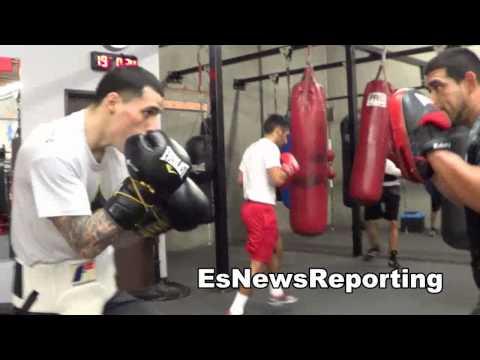 herbert acevedo working for his big fight in garden city kansas EsNews Boxing