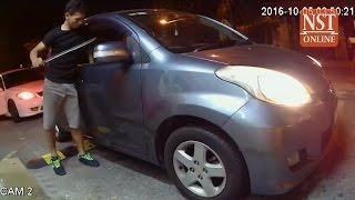 Parang-wielding robber rattles Ara Damansara, CCTV footage goes viral
