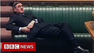 Jacob Rees-Mogg told to 'sit up man!' - BBC News