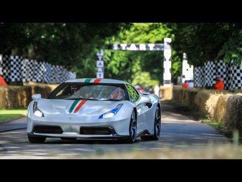 Ferrari 458mm Speciale At Goodwood Festival And Ferrari F12 Tdf