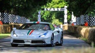 Ferrari 458MM Speciale at Goodwood Festival and Ferrari F12 TDF Burnout & Acceleration MARCHETTINO