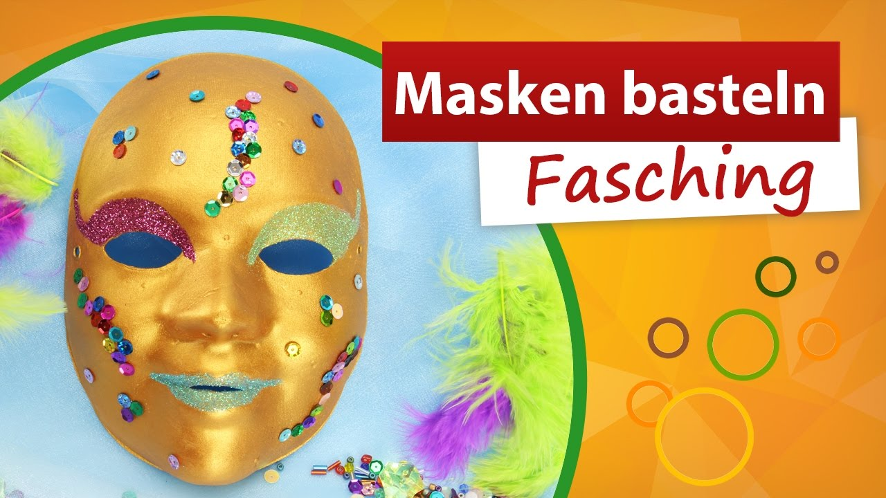 masken basteln fasching diy bastelideen faschingsmaske trendmarkt24 youtube. Black Bedroom Furniture Sets. Home Design Ideas
