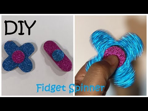 DIY Fidget Spinner / Easiest Way How To Make Fidget Spinner Without Bearings  #61