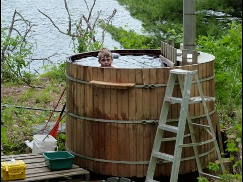 Off Grid Wood Fired Hot Tub