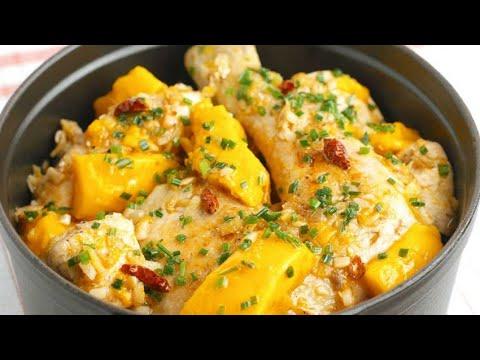 recette-:-cocotte-de-poulet-à-la-mangue