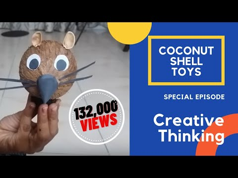 Kids craft doll with coconut shell doovi for Best out of waste at home