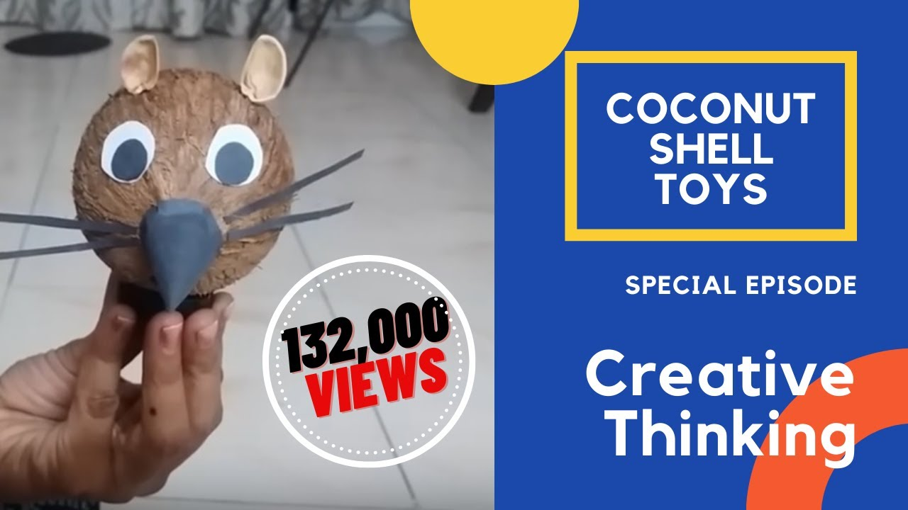 Coconut shell toy created at home best out of waste for Waste material video
