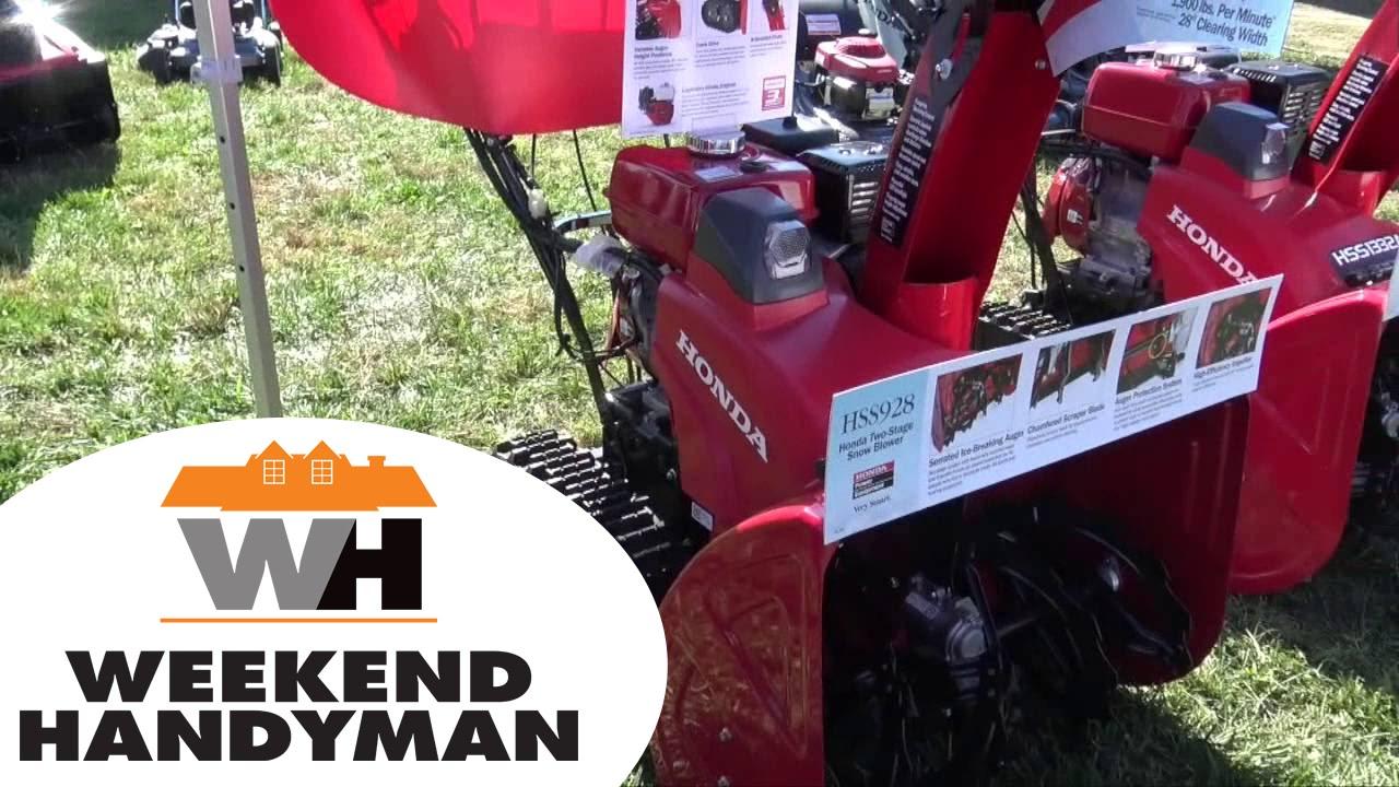 Honda Equipment Hss928 Series Snow Ers Weekend Handyman
