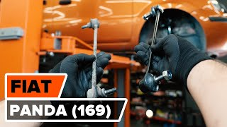 How to change front anti roll bar link on FIAT PANDA (169) [TUTORIAL AUTODOC]