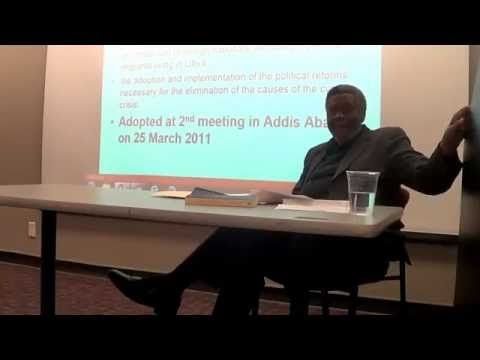 Horace Campbell talk on Pan Africanism and Libya