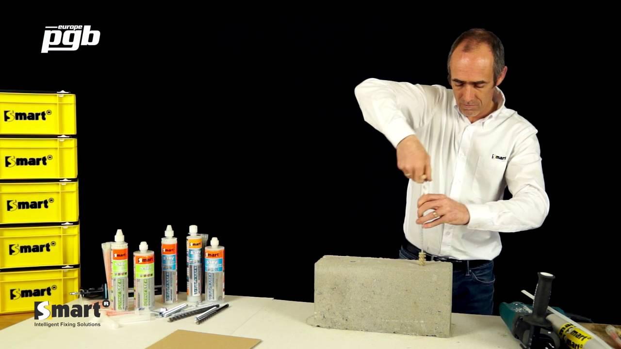 smart scellement chimique pour beton youtube. Black Bedroom Furniture Sets. Home Design Ideas