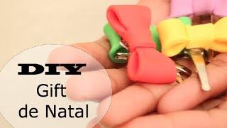 ✂ DIY Gift de natal... Colab... Meu diario Crespo Laços de cerâmica plástica