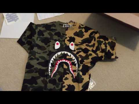 BAPE 1ST CAMO SHARK TEE FW16 Pickup/Unboxing + Quick Review