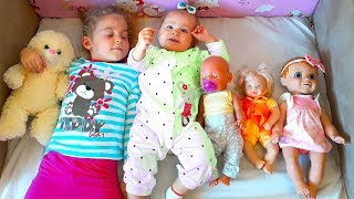 Nadia Play With Dolls And Little Brother by ABC show