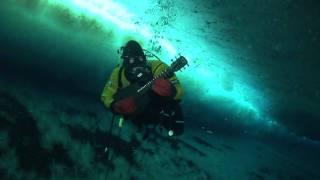 Ice Diving Guitar in Antarctica