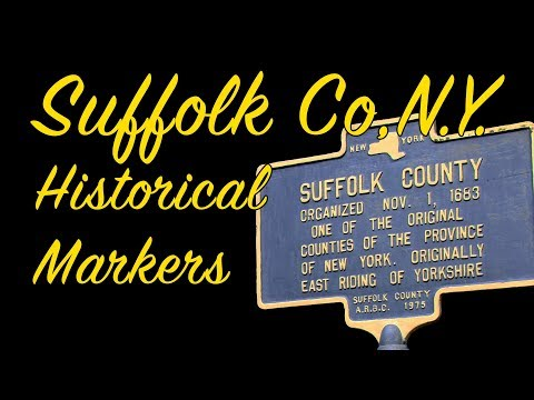 Suffolk County History Markers