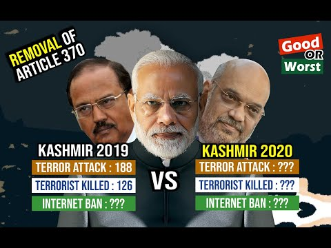 Kashmir 2019 vs Kashmir 2020 Comparison || Kashmir One Year