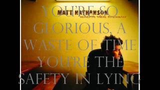 Watch Matt Nathanson Lucky Boy video