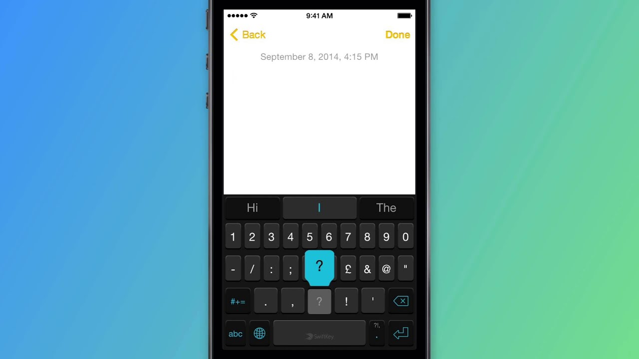 How To Access Symbols Swiftkey Keyboard For Iphone Ipad And Ipod