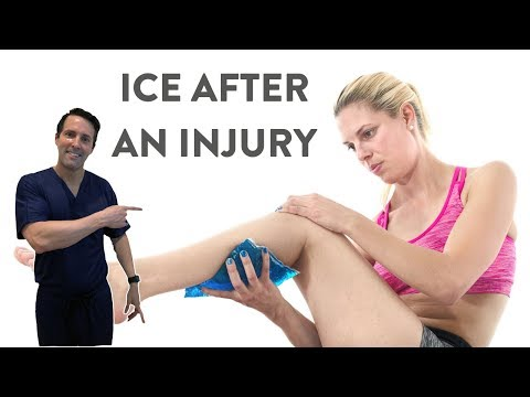 How to use ice after an injury