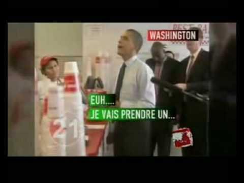 Obama débarque dans un Fast Food !