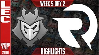 G2 vs OG Highlights | LEC Spring 2019 Week 5 Day 2 | G2 Esports vs Origen